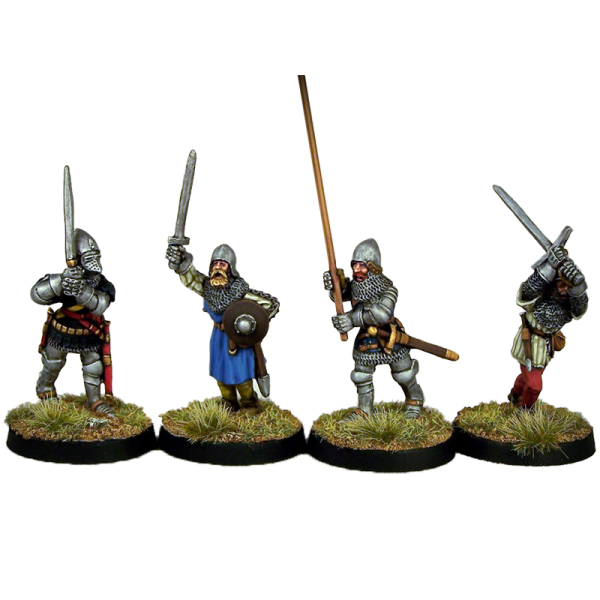 14th Century English or Scottish Command Pack painted front view.