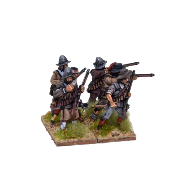 Spanish Tercios Arquebusiers Firing and Loading 2 front view B.
