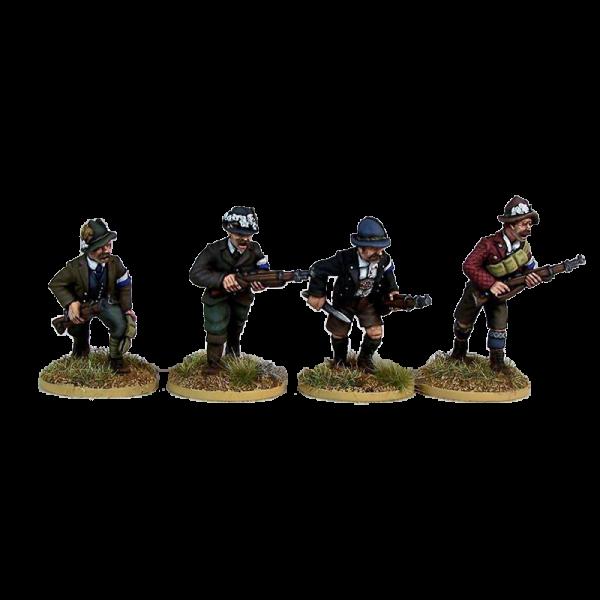 Freikorps Werdenfels Riflemen Advancing for interwar German Revolution 1918-1919 front painted view.