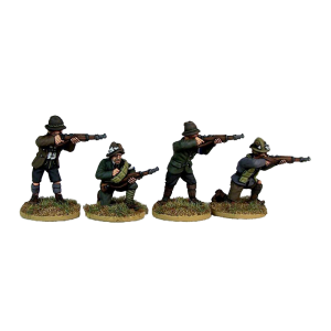 Freikorps Werdenfels Riflemen Firing for interwar German Revolution 1918-1919 front painted view.