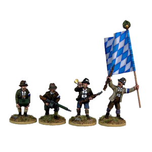 Freikorps Werdenfels Specialists pack for interwar German Revolution 1918-1919 front painted view.