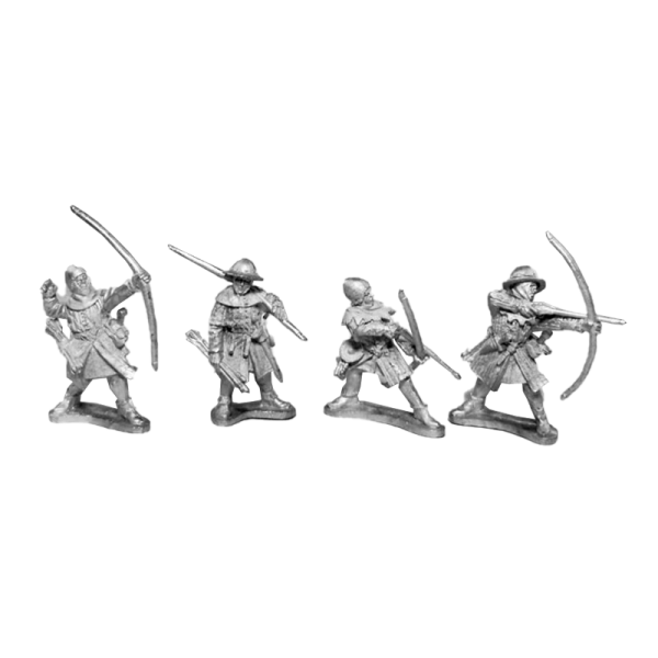 14th Century English Archers 5 Pack front view.