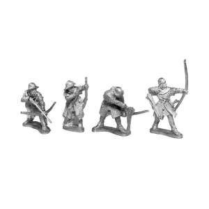 14th Century English Archers 6 Pack front view.