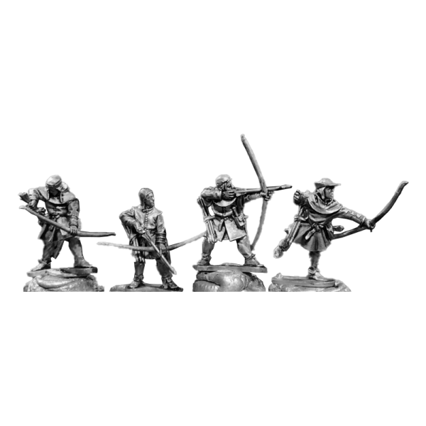 14th Century English Archers 3 Pack front view.
