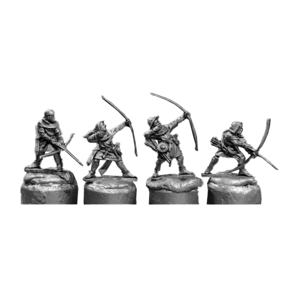 14th Century English Archers 4 Pack front view.