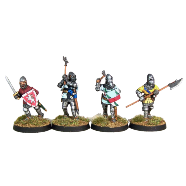 14th Century Knights 2 Pack painted front view.