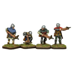14th Century Crossbow 3 pack painted front view.