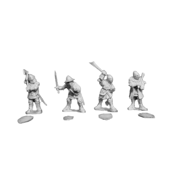 14th Century Men at Arms 2 pack front view.