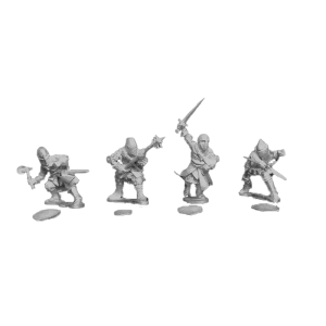 14th Century Men at Arms 3 Pack front view.