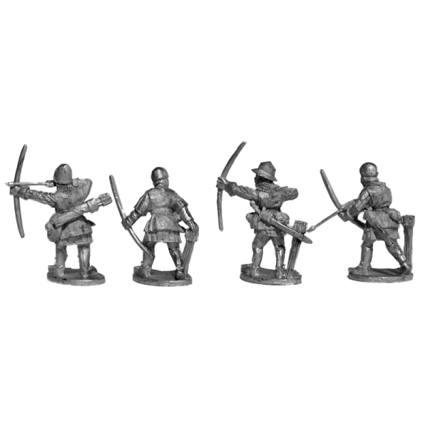 14th Century English Archers 1 Pack back view.