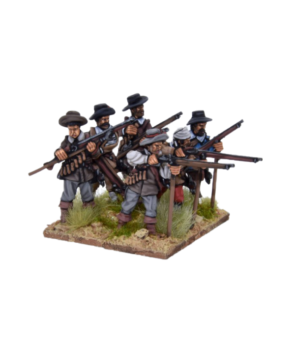 Spanish Tercios Musketeers Firing 1 view A.