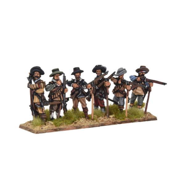 Spanish Tercios Musketeers Firing 2 front view.